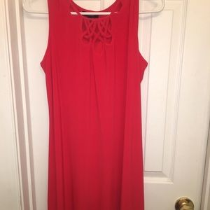 MSK Dresses - MSK red mini dress with cutout detail!!